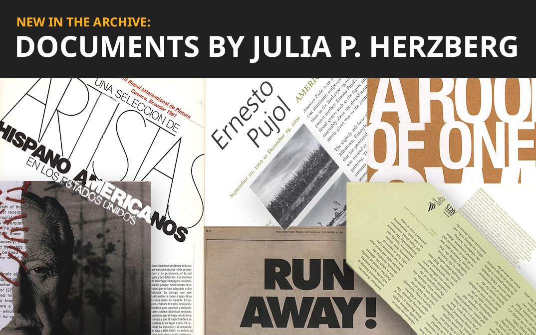 <p><strong>New in the Archive: Documents by Julia P. Herzberg</strong></p>
